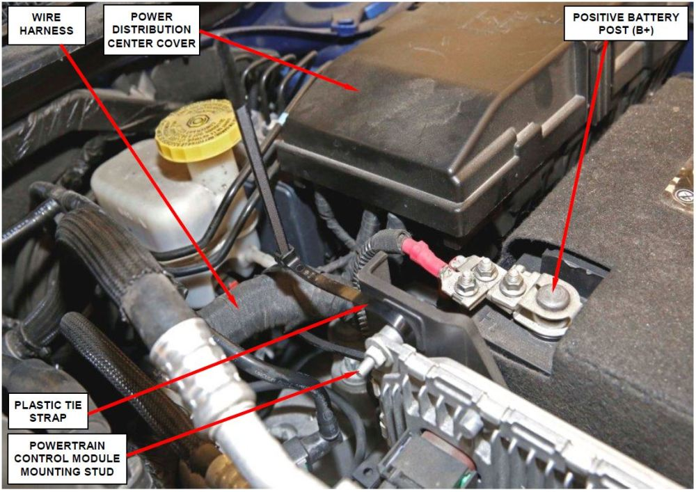 medium resolution of install a plastic tie strap to prevent wire harness from sagging onto the transaxle