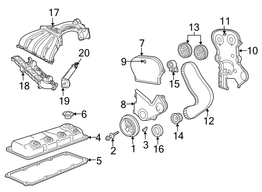 2003 Chrysler PT Cruiser BASE Engine Timing Belt. Engine