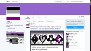 Captura de pantalla del Twitter de AVENes en 2016