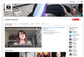 Captura de pantalla del Canal YouTube de AVENes en 2016