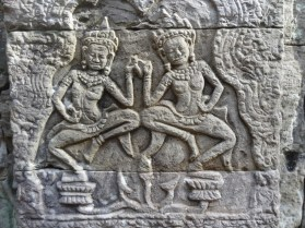 Relief two Apsaras