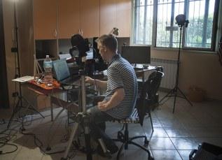 At the CHSOS studio in Sicily