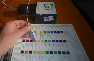 Miniaturized reflectance spectroscopy system tested on Pigments Checker