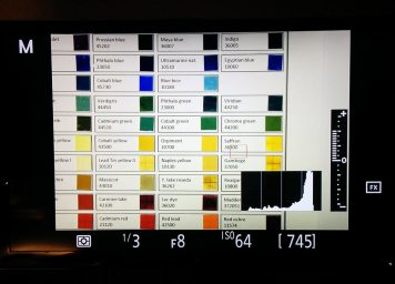 UCSD CISA3 testing their new scanner on the Pigments checker