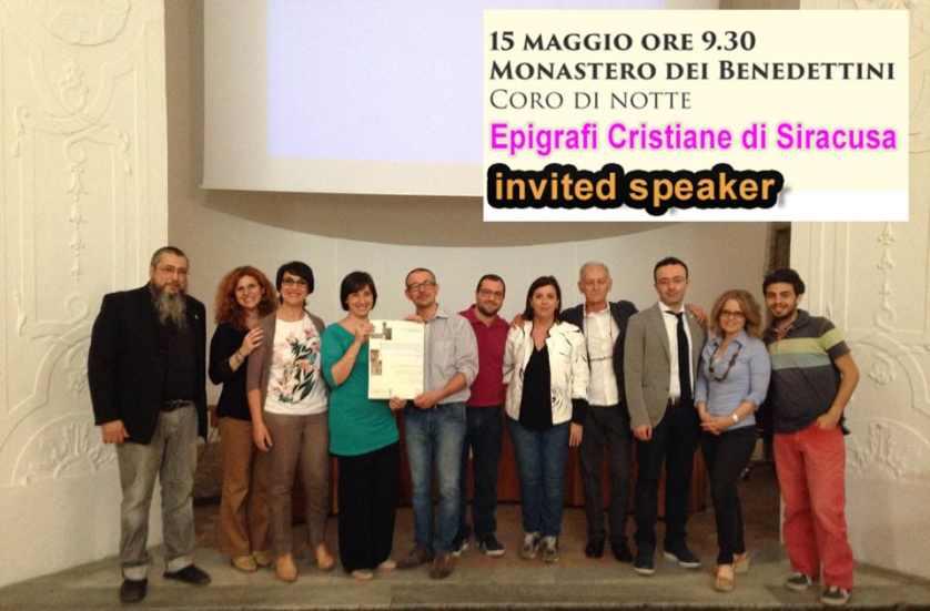 epigrafia cristiana in Siracusa conferenza 15 05 2015