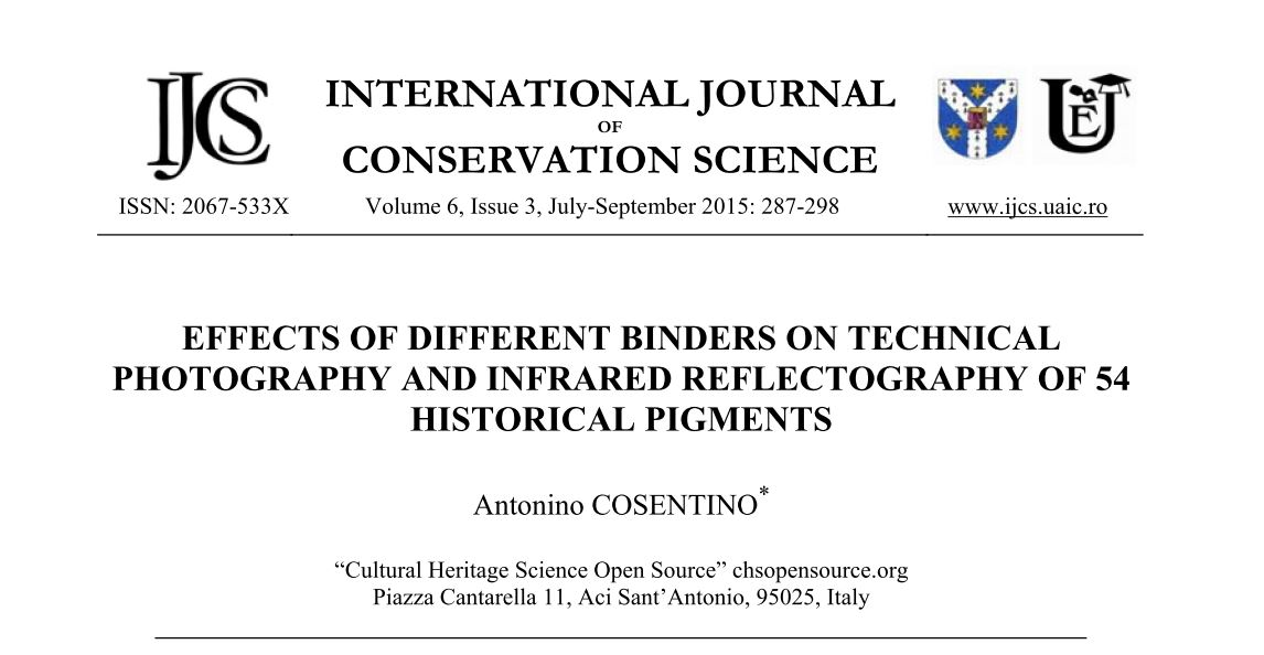 Effect of different binders