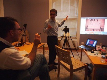 Multispectral Imaging Training. Neighborhood Preservation Center, New York City.