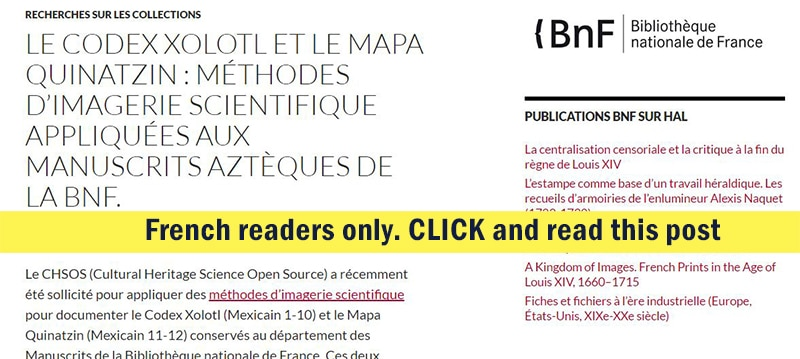 LE CODEX XOLOTL ET LE MAPA QUINATZIN MÉTHODES D'IMAGERIE SCIENTIFIQUE APPLIQUÉES AUX MANUSCRITS AZTÈQUES DE LA BNF 012jpg
