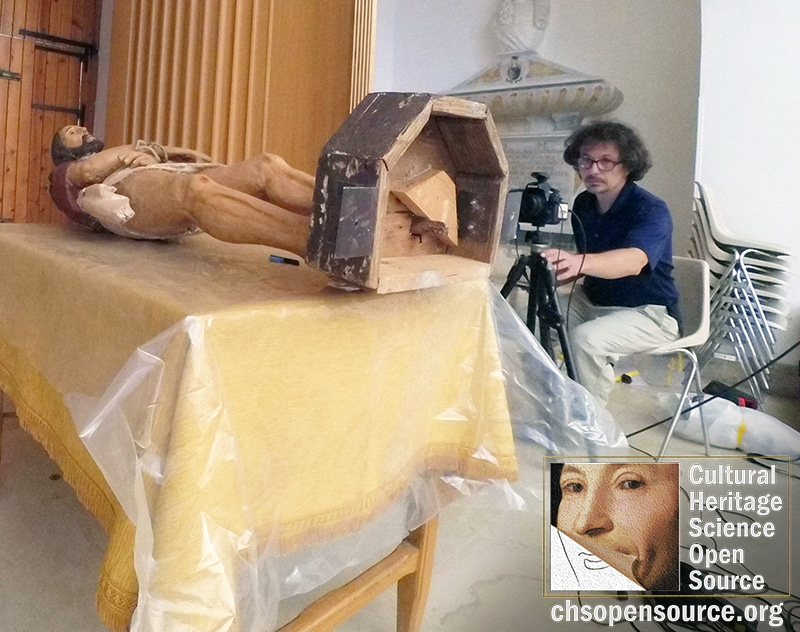 """Non-invasive diagnostics on the """"Ecce Homo"""" wooden statue in Avola, 17th century."""