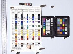 Calibration card and pigments checker