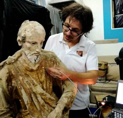 Technical Examination of St. Elijah's statue in Comiso, Sicily