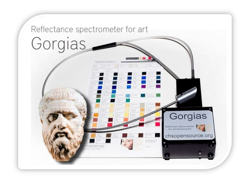 Gorgias reflectance spectrometer for art