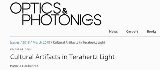 Cultural Artifacts in Terahertz Light - READ New article