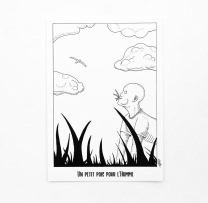Print - Un petit pois pour l'homme [broute]