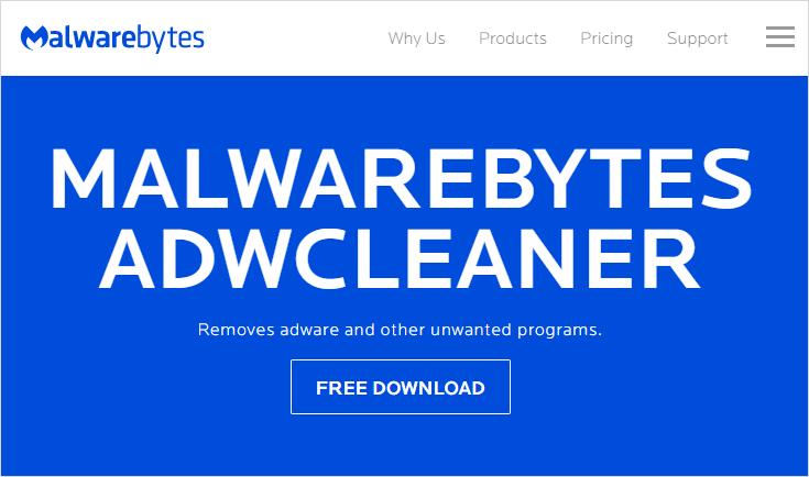AdwCleaner - 官網首頁