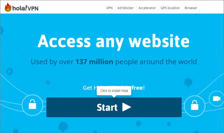 HOLA免費VPN APP - 官網