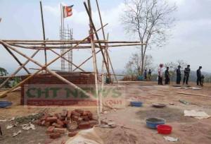 দুইটিলায় নির্মাণাধীন ১০ ফুট উচ্চতার বুদ্ধমূর্তি