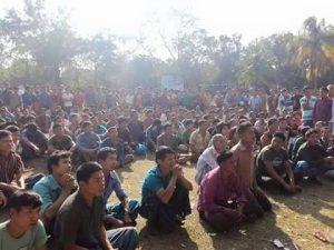 # গণসংবর্ধনা অনুষ্ঠানে অংশগ্রহণকারীদের একাংশ।