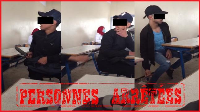 مقطع فيديو داخل فصل دراسي يوقع بثلاثة تلاميذ في قبضة الأمن