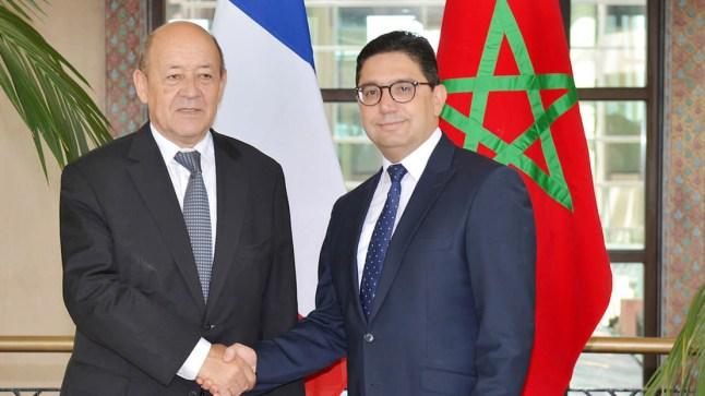 """بعد لقائه بـ """"مساهل"""".. وزير الخارجية الفرنسي يستقبل """"بوريطة""""."""