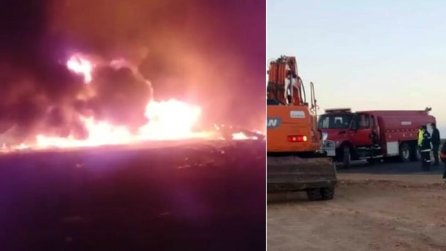 النيران تأتي على قرية للصيادين ببوجدور!