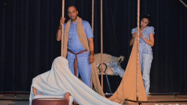 """سابقة. مسرحية """"الخالفة"""" لفرقة أنفاس تعرض في اليوم العالمي للمسرح بمدينة لفقيه بنصالح"""