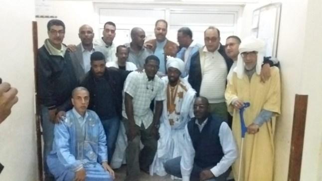 عيادة الفنانة الصحراوية خوسيفا بالمستشفى