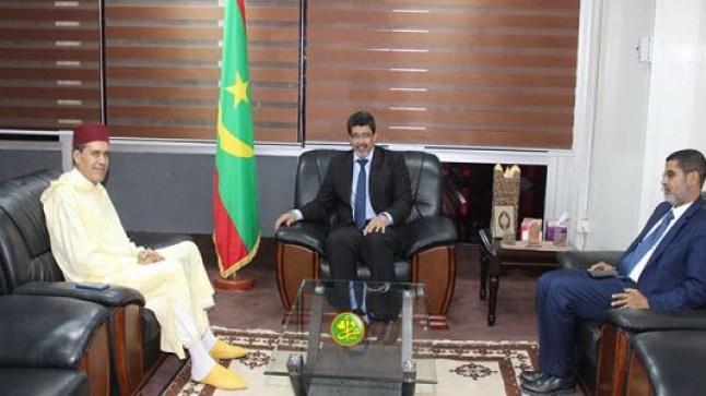 وزير الثقافة الموريتاني يستقبل سفير المغرب