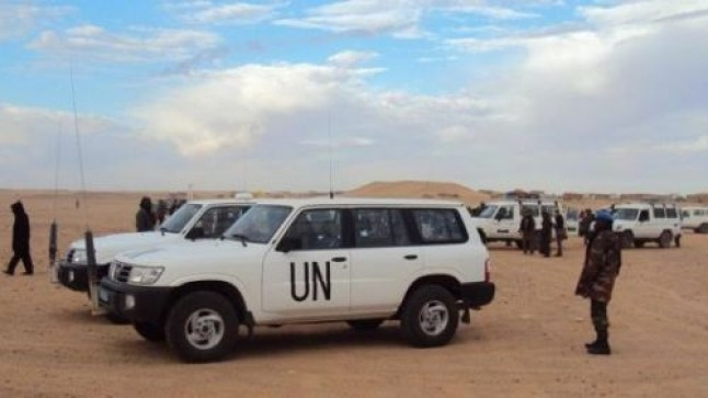 بعثة المينورسو تسحب 22 سيارة دفع رباعي من الصحراء وترسلها إلى لبنان..