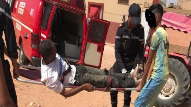 الطنطان: انفجار قذيفة يرسل عامل بناء إلى المستعجلات ويستنفر المصالح الأمنية المحلية