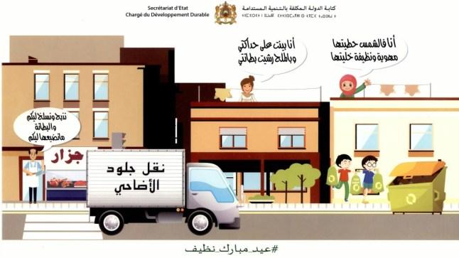 """""""عيد مبارك نظيف"""".. شعار حملة تحسيسية حول النظافة بمناسبة عيد الأضحى من تنظيم كتابة الدولة المكلفة بالتنمية المستدامة"""