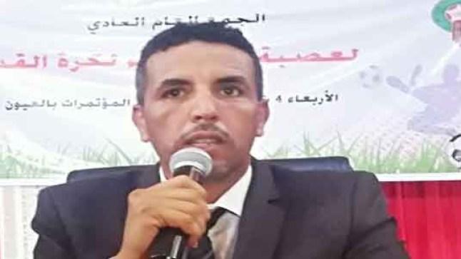 """""""لشكر محمد يحظيه"""" رئيسا لعصبة الصحراء لكرة القدم"""