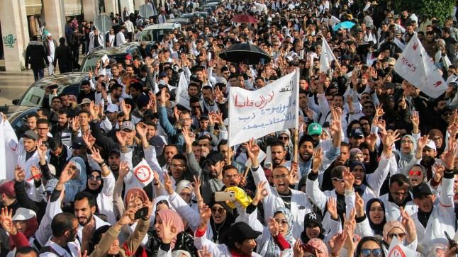 الأساتذة المتعاقدون يخوضون إضرابا وطنيا ويقاطعون امتحان التأهيل!