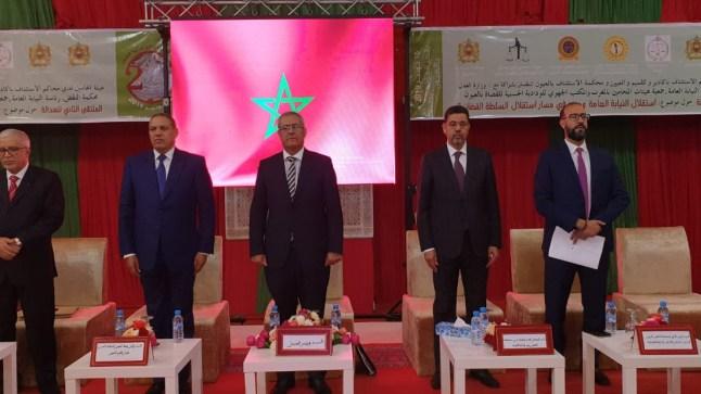 من العيون.. محمد عبد النباوي يؤكد أن استقلال السلطة القضائية بالمملكة المغربية اليوم هو حقيقة دستورية وقانونية