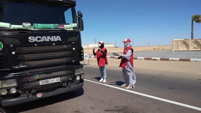 الهلال الأحمر المغربي ببوجدور دينامو الحملات التحسيسية بالإقليم