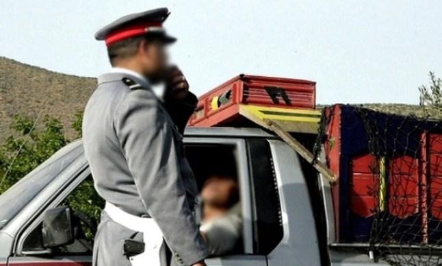 درك الطنطان يجهض تهريب مخدرات على متن شاحنة لنقل الخضر!