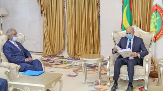 عاجل. الرئيس الموريتاني يستقبل وزير خارجية الجبهة، وهذا ما دار بينهما..