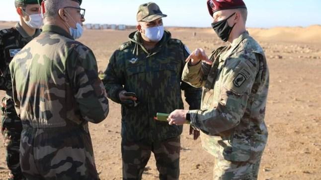 """تحضيرا لـ""""الأسد الإفريقي"""".. وفد عسكري أمريكي يزور المنطقة العسكرية الجنوبية للمغرب"""