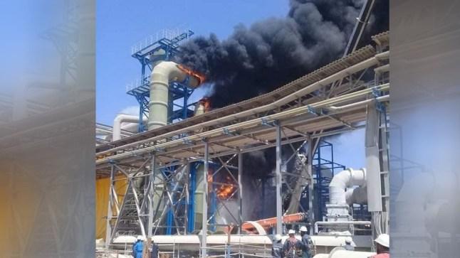 مصرع عامل وإصابة آخرين على إثر حريق داخل المركب الكيماوي للفوسفاط