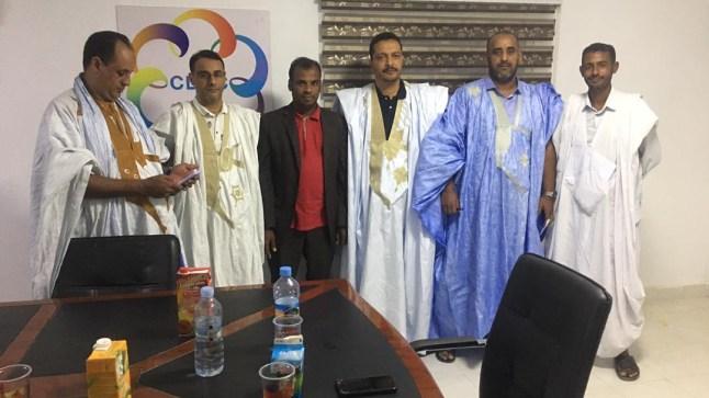 """المكتب التنفيذي لـ""""AMDUIEM"""" يستقبل الاعلامي المغربي عبد الله الكنتي"""