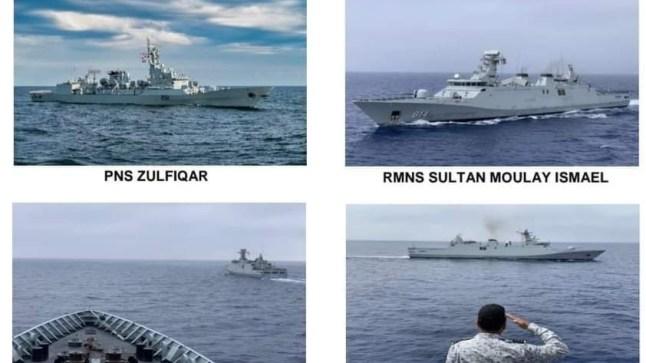 مناورات عسكرية تجمع البحرية الملكية والبحرية الباكستانية