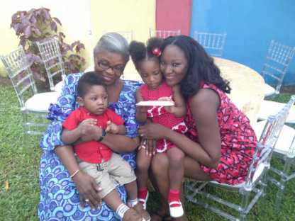 My mother, sister (she took all the looks in the family), and her two lovely children