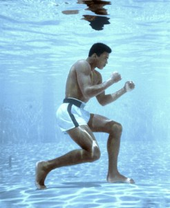 The greatest of all time - Muhammad Ali - shadow boxing underwater