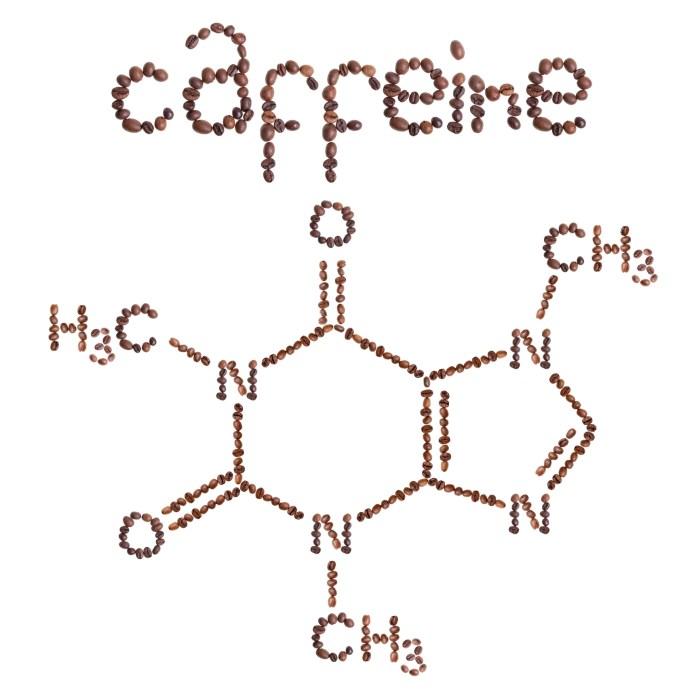 Caffeine chemical molecule structure.