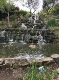 Waterfall in Regents park inner circle, London