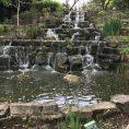 Waterfall in Regents park inner circle, London