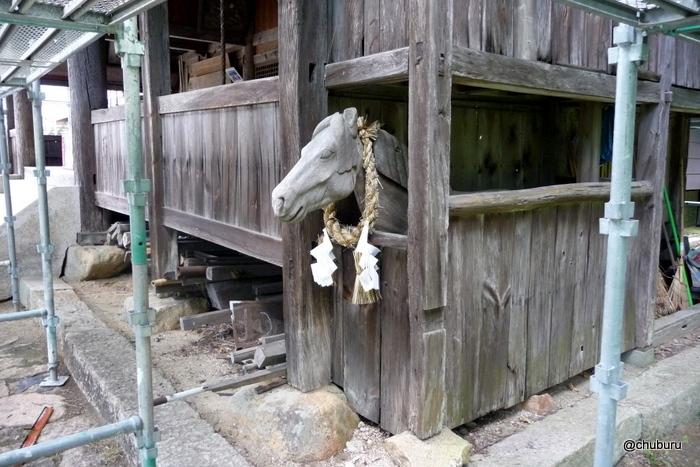長野八幡宮にもあった神馬