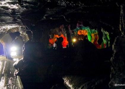 金田一耕助を巡る旅 その10鍾乳石を可愛がってください。満奇洞を歩くその2