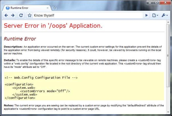 ASP.NET generic error