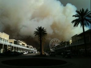 View fronThe Wharf during Gulf State Park Fire via Facebook